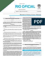 Diario oficial de Colombia n° 49.820. 19 de marzo de 2016
