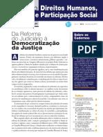 Da Reforma Do Judiciario a Democratização Da Justiça