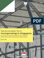 Incorporating in Singapore