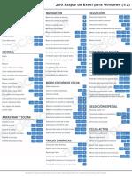 guia pdf 200 atajos de teclado excel