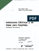 Instalaciones electricas y de gases para hospitales