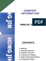 Hong Jin-Company Information