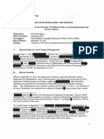 UC Berkeley - Dabrera investigation report