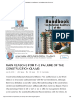 Failure of Construction Claims