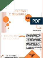 Graciela Rubio. Educación y Memoria
