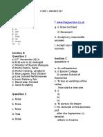 Form 1 Answer Key