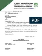 Surat Permohonan Dana Fordima
