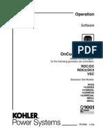 Tp6796 Kohler on Cue Operators Manual