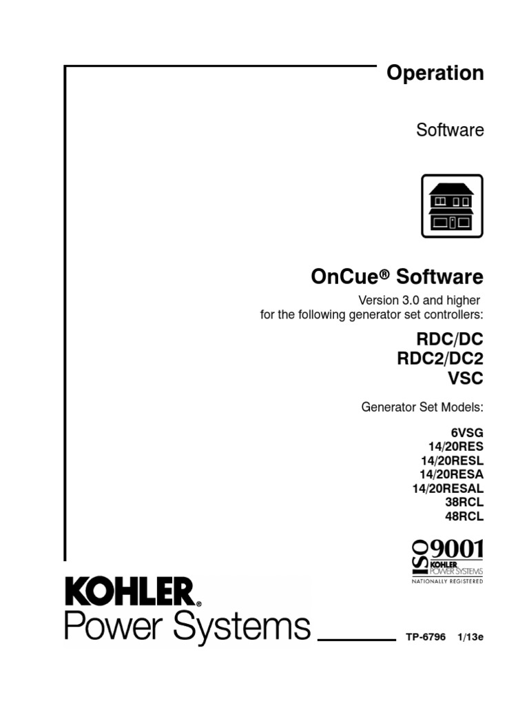 Operation. Oncue software. Software rdc/dc rdc2/dc2 vsc. Version.