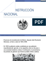La Reconstrucción Nacional- México Contemporaneo