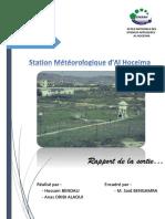 Rapport de la sortie - Station Météorologique d'Al Hoceima - [HBENDALI + ADRIBIALAOUI]