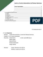 Instrumentación y Control (Automático) de Plantas Químicas