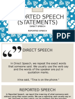 Reported Speech Statements