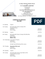 5. Schedule of Divine Services - May, 2010