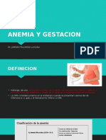Anemia y Gestacion