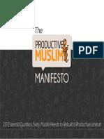 ProductiveMuslim Manifesto