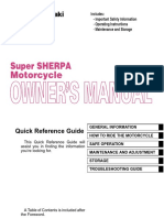 Kawasaki Super Sherpa Kl250g9 Owners Manual