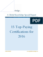 2016 Top-Paying Certifications