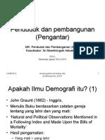 Pengantar Penduduk Dan Pembangunan_S2KK Gasal 2012_2013