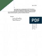 Resignation letter of Jennifer Chateauneuf