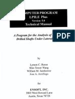 Ensoft LPile Plus 5.0 -User Technical Manual