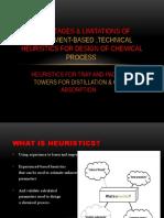 Advantages & Limitations of Experiment-based ,Technical Heuristics