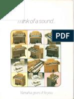 Yamaha Organ Sales Brochure 1981
