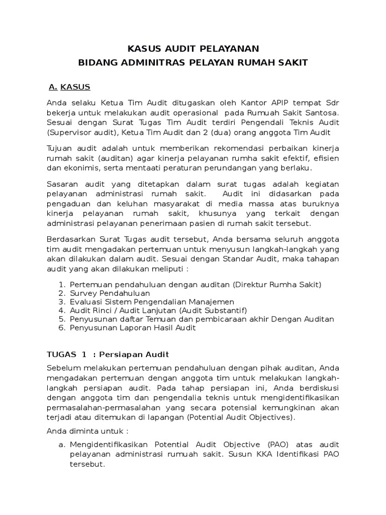 1 Kasus Audit Operasional