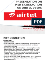 Presentation on Customer Satisfaction of Airtel Users