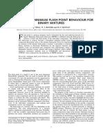 Prediction of Minimum Flash Point Behaviour for Binary Mixtures