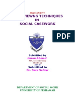 Interviewing in Social Work-Imran Ahmad Sajid