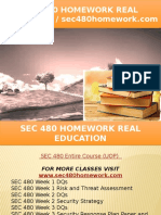 SEC 480 HOMEWORK Real Education - Sec480homework.com