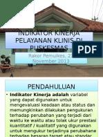 Indikator Program Pelayanan Pengobatan Di Puskesmas