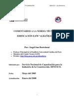 Comentarios a La Norma Tecnica de Edificacion E 070 Peru