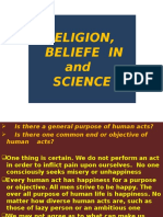 Relgn, Belief in and Science