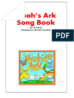 1 Noah's Ark CD A4 Song Book Cover