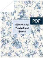 Homemaking Notebook Cover Page