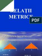 relatii metrice