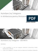 Asimilare vs Integrare in Architectura p