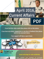 5 April 2016 Current Affairs for Competition Exams