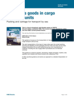 DangerousgoodsincargotransportunitsPackingandcarriagefortransportbysea
