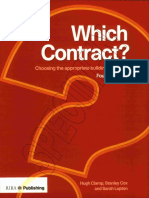 Which Contract - Choosing Appropriate Building Contract