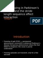 Gait freezing in parkinson's disease