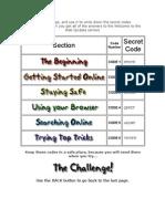 Secret Code Sheet