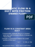 Adiabatic Flow in a Duct With Friction (