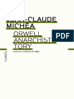 Orwell Anarchiste Tory Michea Jean Claude