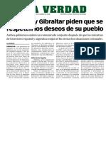 160406 La Verdad- Gibraltar y Falkland Piden Que Se Respeten Los Deseos de Su Pueblo