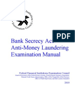 Bank Secrecy Act/Anti-Money Laundering Examination Manual