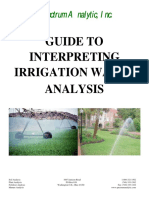 Guide to Interpreting Irrigation Water Analysis