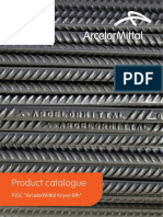 Product catalogue for steel re-bars